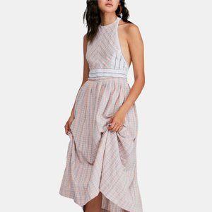 Free People Color Theory Midi Maxi Dress. XS, M
